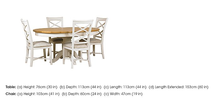 Arles Round Extending Dining Table with 4 Chairs in  on FV