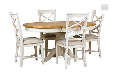 Arles Round Extending Dining Table with 4 Chairs  in {$variationvalue}  on FV