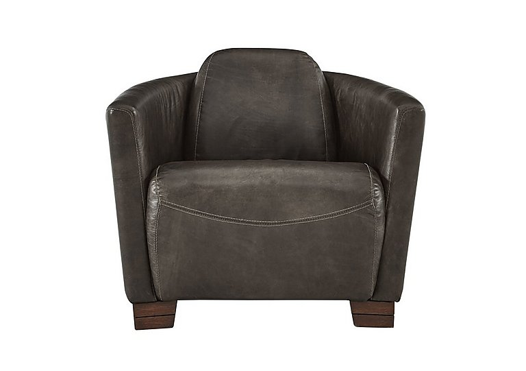 Huxley Leather Armchair in Antique Tobaco Ao on Furniture Village