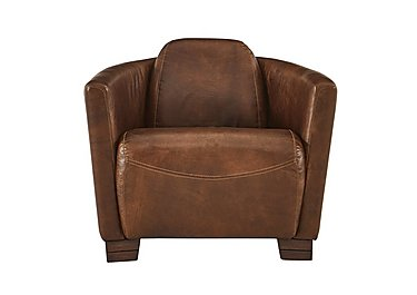 Huxley Leather Armchair in Riders Nut Ao on FV