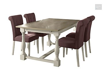 Pierre Extending Dining Table and 4 Upholstered Dining Chairs  in {$variationvalue}  on FV