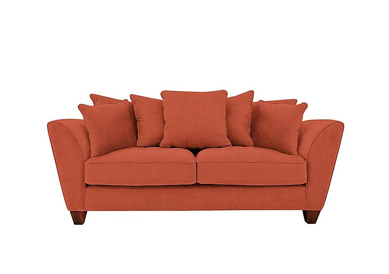 Tangier 3 seater fabric pillow back sofa furniture village for Furniture village sofa