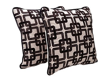 Tangier Pair of Scatter Cushions in Quadro Black on FV