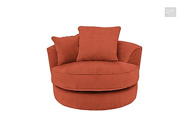 Tangier Fabric Snuggler Swivel Armchair  in {$variationvalue}  on FV
