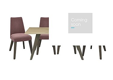 Cavendish Dining Table and 4 Chairs in Mulberry Fabric on FV