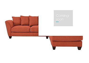 Tangier Fabric Corner Sofa in Cosmo Spice - Dark Feet on FV