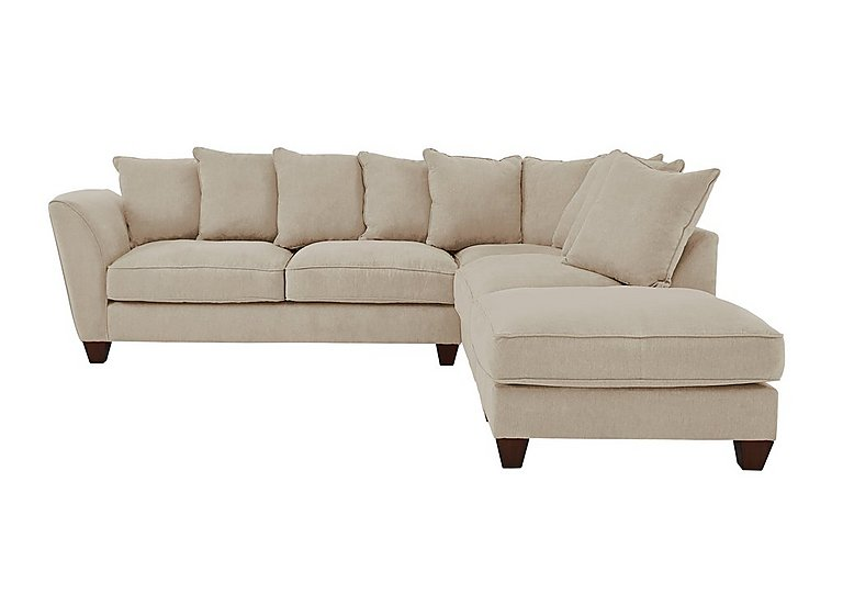 Tangier Fabric Pillow Back Corner Sofa