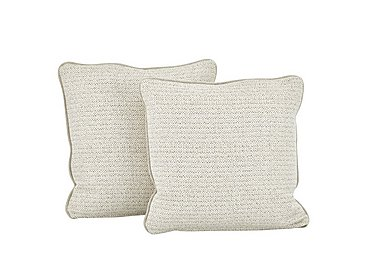 Esther Fabric Pair of Scatter Cushions in Esther Weave Ivory on FV