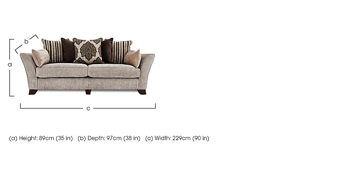 Annalise 4 Seater Fabric Sofa in  on Furniture Village