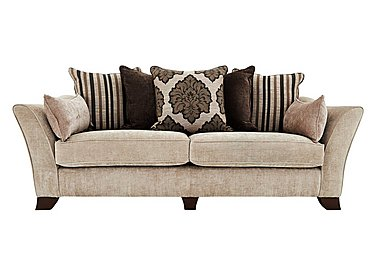 Annalise 4 Seater Fabric Sofa in Sherlock Pearl Dark Feet on Furniture Village