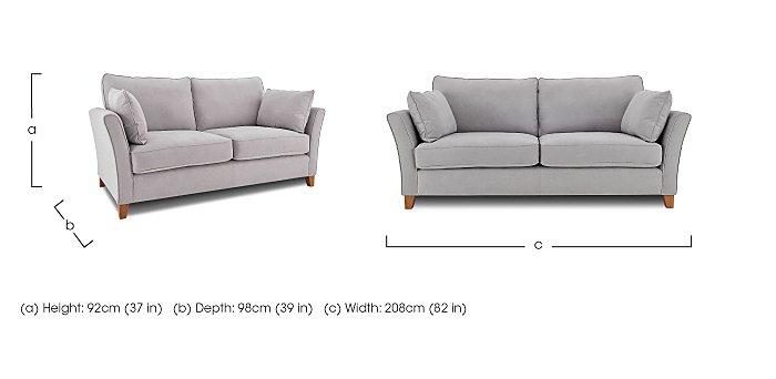 High Street Bond Street Fabric 4 Seater Sofa - Limited Stock