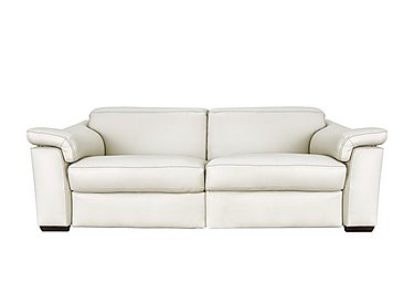 Sensor Leather 2 Seater Sofa - Only One Left! in Dream 20jh White on FV