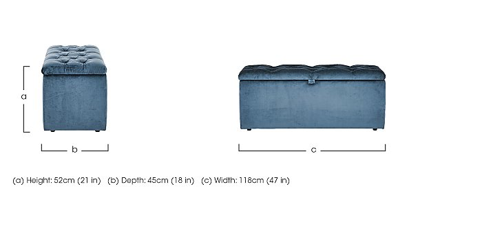 Cheltenham Ottoman Chest in  on FV