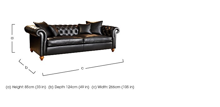 Curzon 4 Seater Leather Sofa in  on FV
