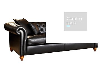 Curzon 4 Seater Leather Sofa in Palazzo Black on FV