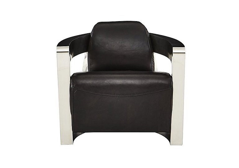 Hoxton Leather Armchair in Antique Black on FV