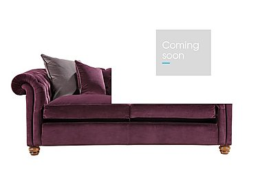 Downton Small 3 Seater Sofa in Brianza Velvet Aubergine on FV