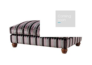 Downton Fabric Footstool in Promenade Lilac / Stone on FV