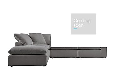 Cloud 5 Piece Corner Sofa including Footstool in Village Linen Clay on FV