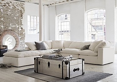Cloud 5 Piece Corner Sofa including Footstool in  on Furniture Village