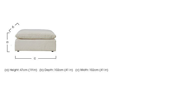 Cloud Fabric Footstool in  on FV