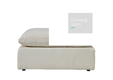 Cloud Fabric Footstool in Village Linen Natural on FV
