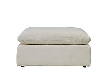 Cloud Fabric Footstool