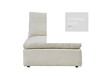 Cloud Fabric Armless Unit in Village Linen Natural on FV