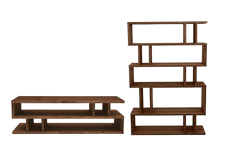 Elmari Coffee Table and Tall Shelving Unit