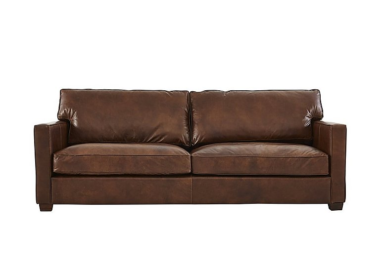 Fulham Broadway 2 Seater Leather Sofa in Antique Whisky Ao on Furniture Village