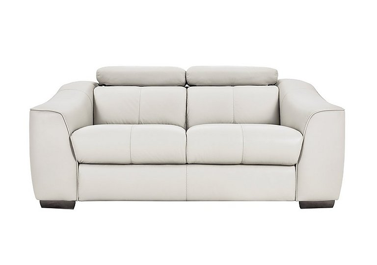 Elixir 2 Seater Leather Manual Recliner Sofa - Only One Left! in Nc 744d Star White on FV