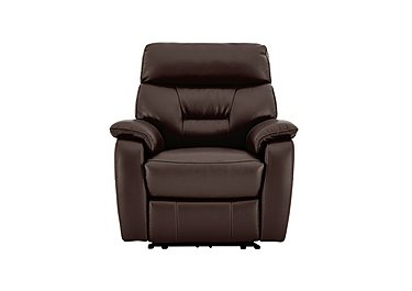 Fontana Leather Manual Recliner Armchair - Limited Stock
