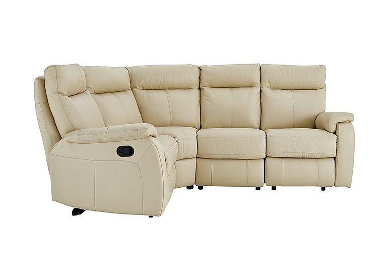 Jemima Leather Left Hand Facing Corner Sofa - Limited Stock