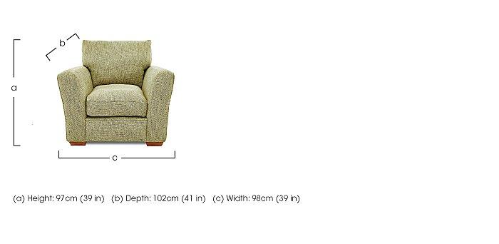 Otto Fabric Armchair - Limited Stock