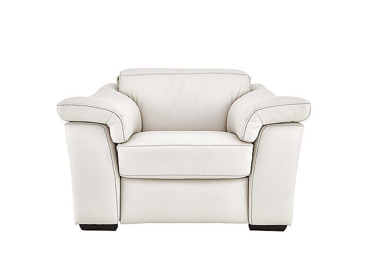 Sensor Leather Power Recliner Love Seat - Only One Left! in Denver 10 Bl White on FV