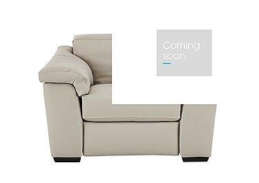 Sensor Leather Power Recliner Love Seat - Only One Left! in Dream 20jj Light Beige - Cs on FV