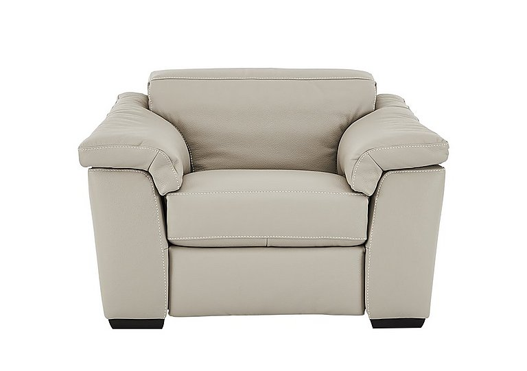 Sensor Leather Power Recliner Love Seat - Only One Left! in Dream 20jj Light Beige - Cs on FV