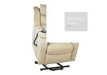 Denver Lift and Rise Fabric Armchair in 1044-0023 Crackle Mink on FV