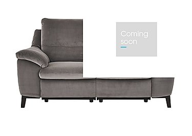 Puglia 2 Seater Fabric Recliner Sofa in Brezza 70207703 Dark Grey on FV