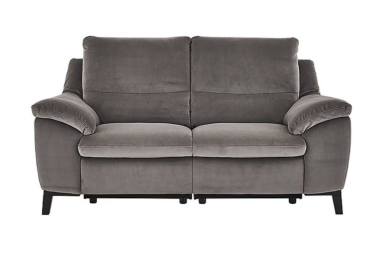 Puglia 2 Seater Fabric Recliner Sofa in Brezza 70207703 Dark Grey on FV