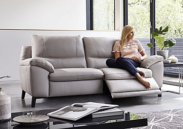 Puglia 2 Seater Leather Recliner Sofa in  on FV