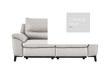 Puglia 2 Seater Leather Recliner Sofa in Phoenix15g3 Lighttaupe Cswhite on FV