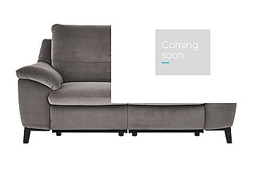 Puglia 2.5 Seater Fabric Recliner Sofa in Brezza 70207703 Dark Grey on FV