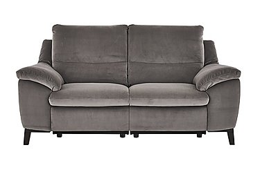 Puglia 2.5 Seater Fabric Recliner Sofa in Brezza 70207703 Dark Grey on FV