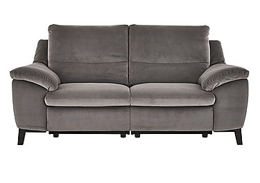 Puglia 3 Seater Fabric Recliner Sofa in Brezza 70207703 Dark Grey on FV
