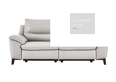 Puglia 3 Seater Leather Recliner Sofa in Phoenix15g3 Lighttaupe Cswhite on FV