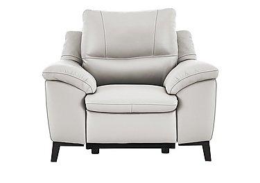 Puglia Leather Recliner Armchair in Phoenix15g3 Lighttaupe Cswhite on FV