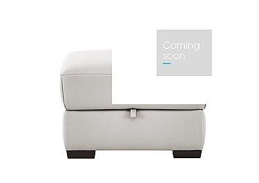 Puglia Leather Storage Footstool in Phoenix15g3 Lighttaupe Cswhite on FV