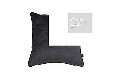 Velvet Sheen Cushion in Charcoal on FV