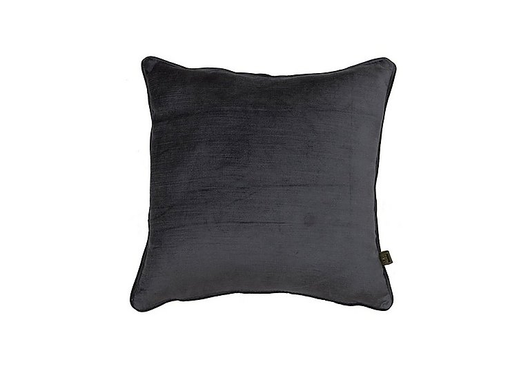 Velvet Sheen Cushion in Charcoal on FV